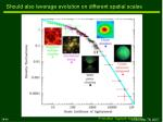 should also leverage evolution on different spatial scales