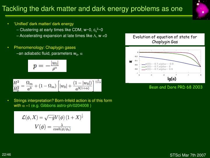 Tackling the dark matter and dark energy problems as one