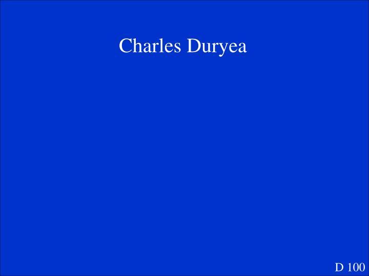 Charles Duryea