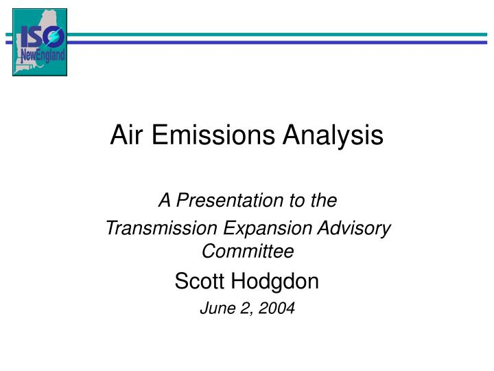 Air Emissions Analysis