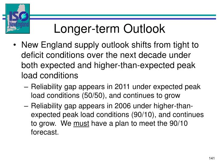 Longer-term Outlook