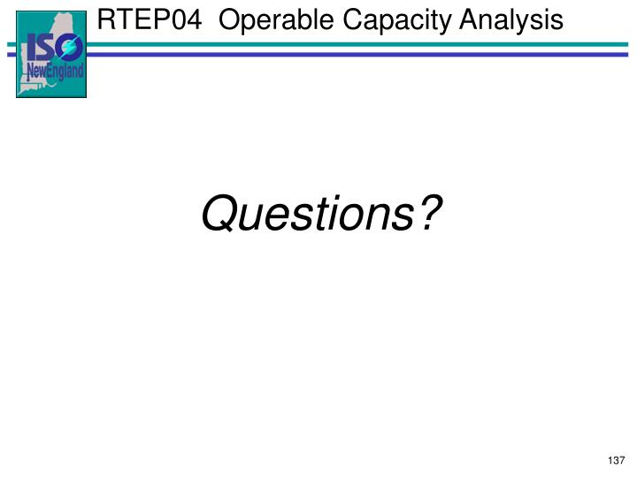 RTEP04  Operable Capacity Analysis