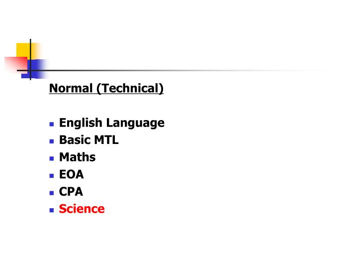 Normal (Technical)