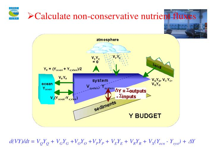 Calculate non-conservative nutrient fluxes