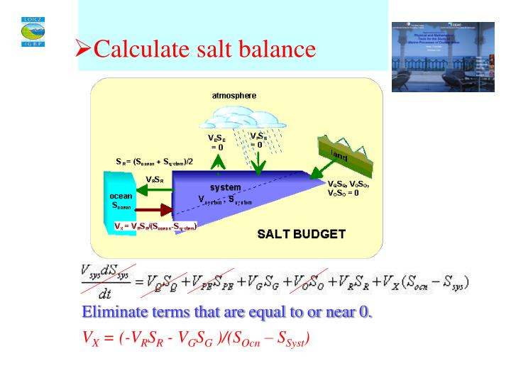Calculate salt balance