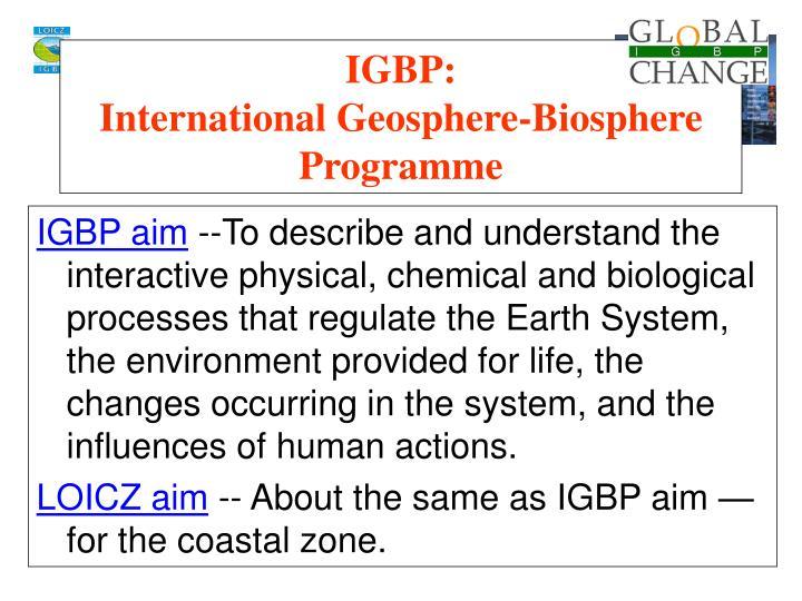 IGBP aim