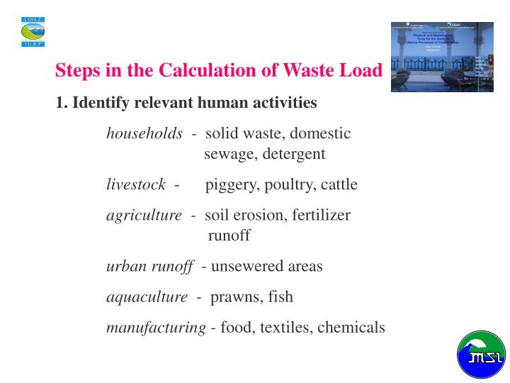 Steps in the Calculation of Waste Load