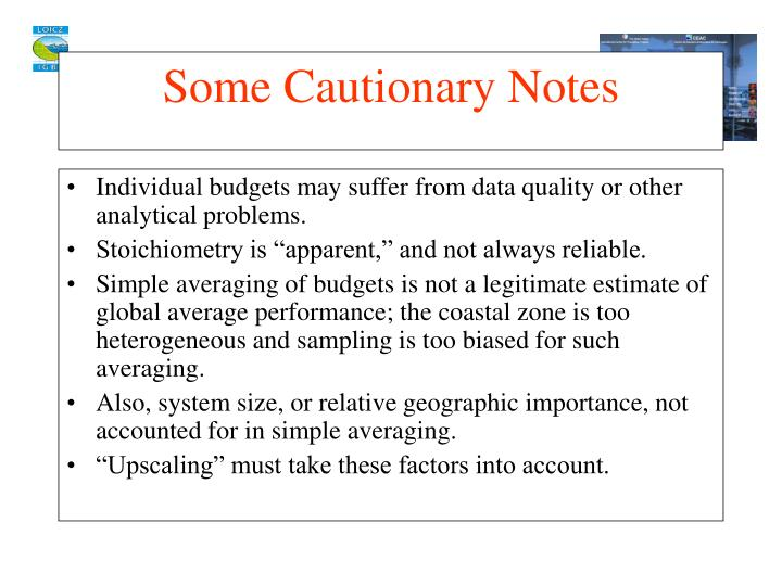 Individual budgets may suffer from data quality or other analytical problems.