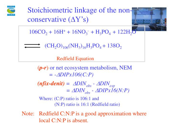 Stoichiometric linkage of the non-conservative (