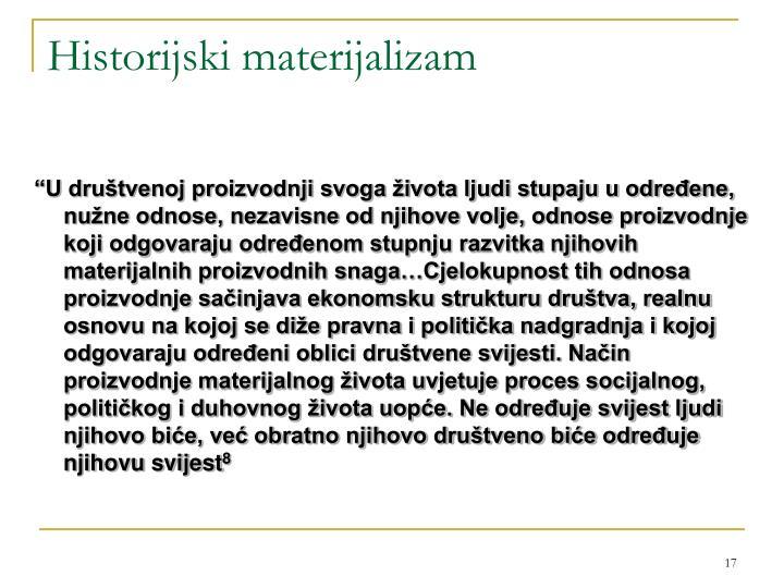 Historijski materijalizam