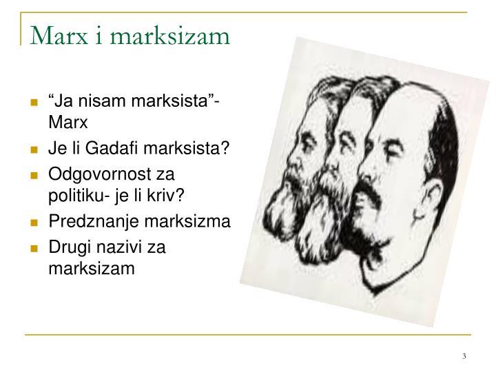 Marx i marksizam