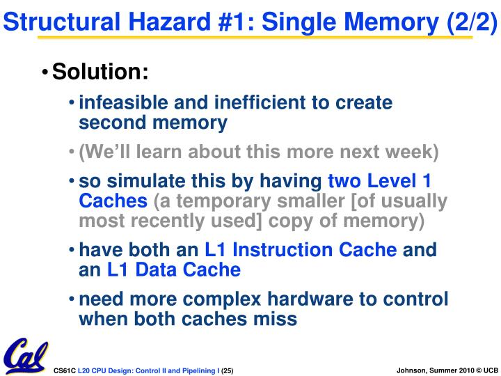 Structural Hazard #1: Single Memory (2/2)