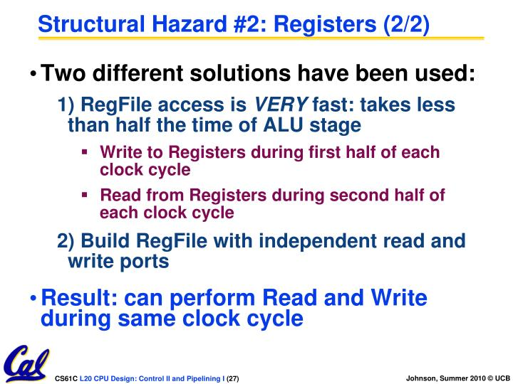Structural Hazard #2: Registers (2/2)