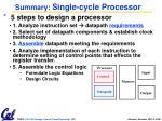 summary single cycle processor1