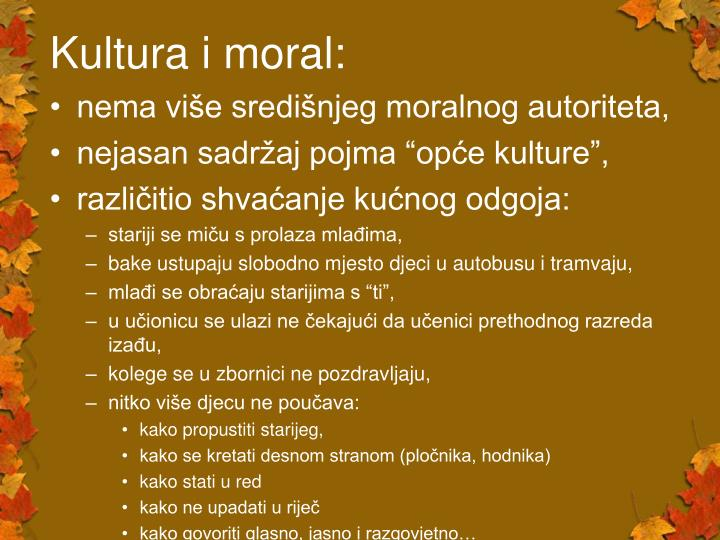 Kultura i moral: