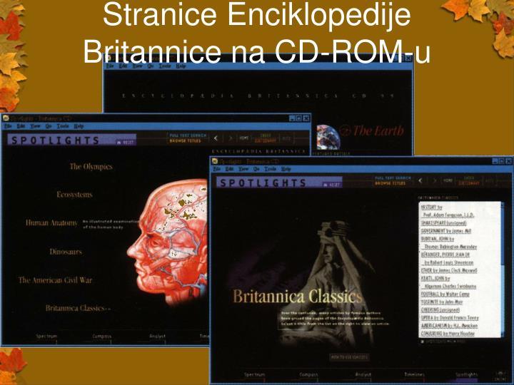 Stranice Enciklopedije Britannice na CD-ROM-u