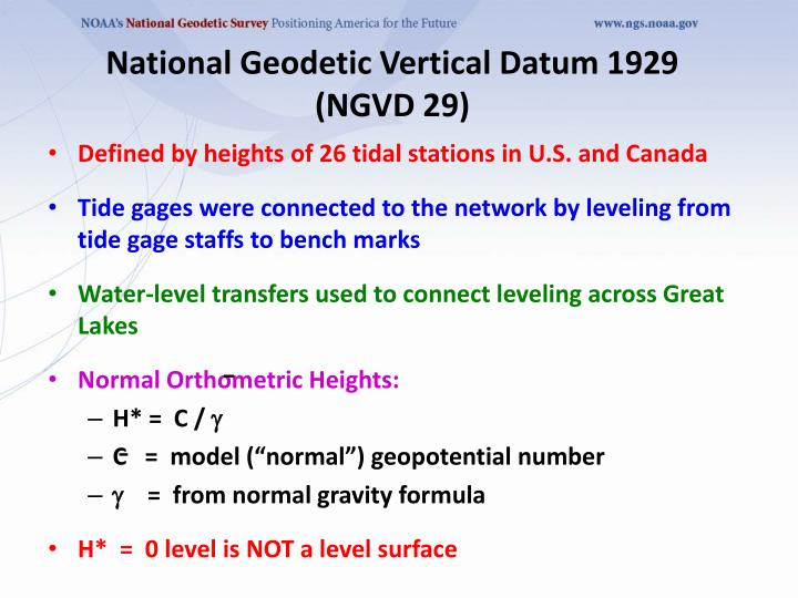 National Geodetic Vertical Datum 1929