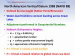 north american vertical datum 1988 navd 88