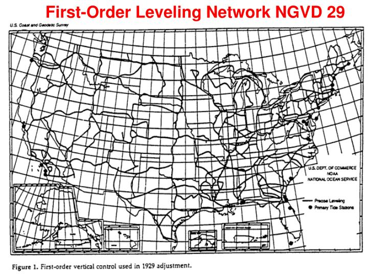 First-Order Leveling Network NGVD 29
