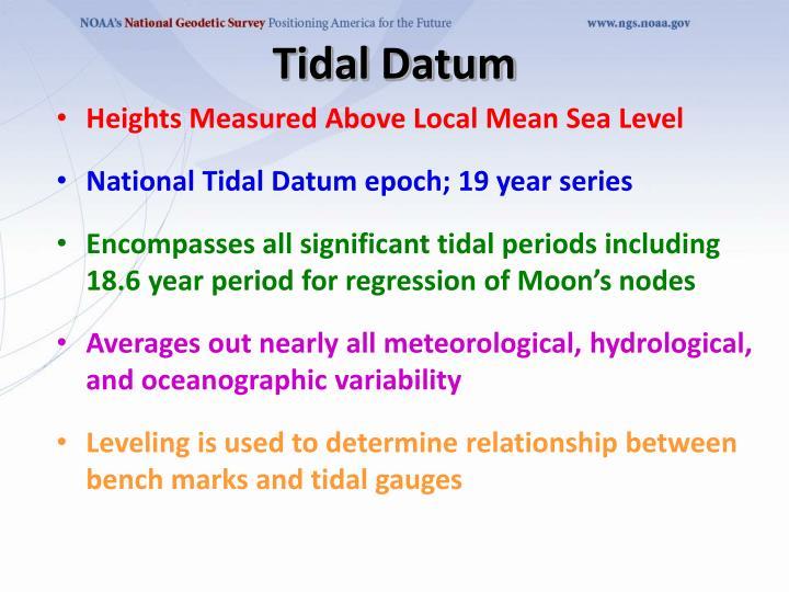 Tidal Datum