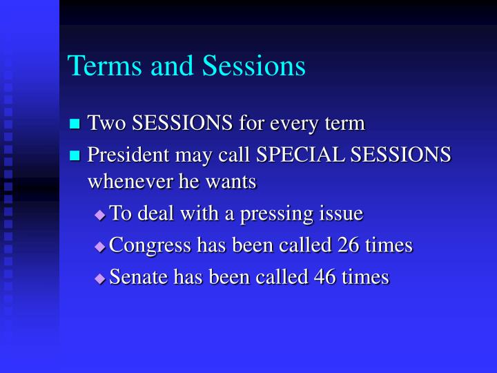 Terms and Sessions