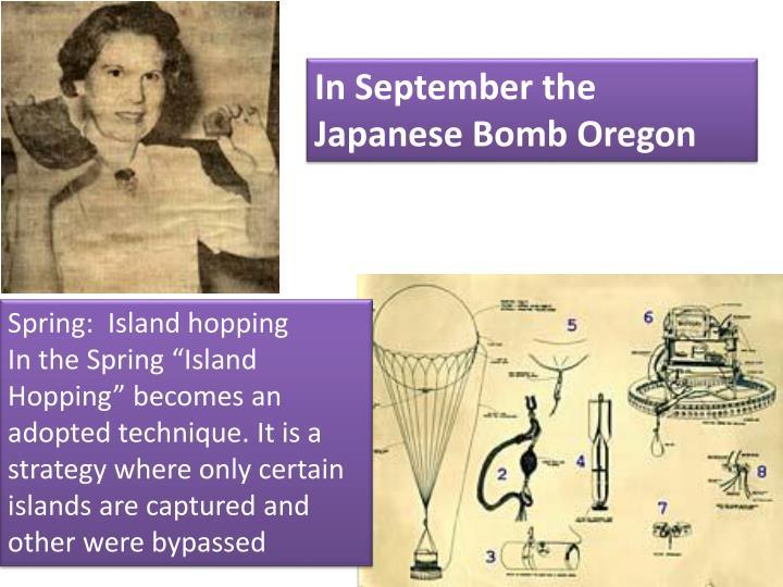 In September the Japanese Bomb Oregon
