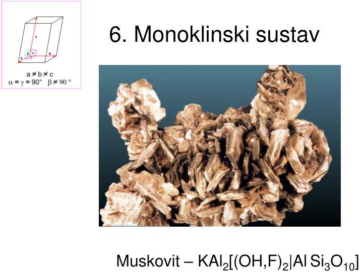 6. Monoklinski sustav