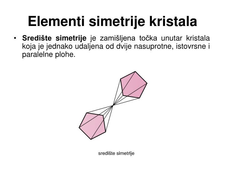 Elementi simetrije kristala