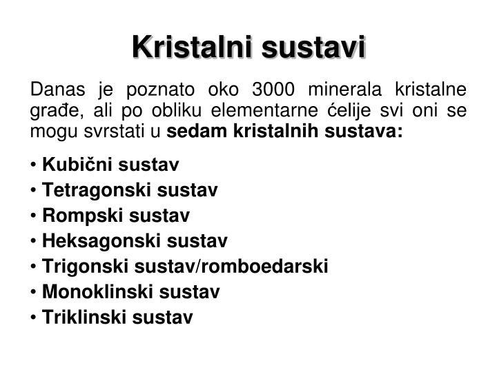 Kristalni sustavi