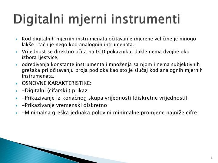 Digitalni mjerni instrumenti