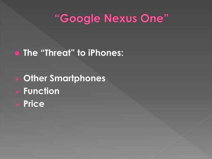 """""""Google Nexus One"""""""