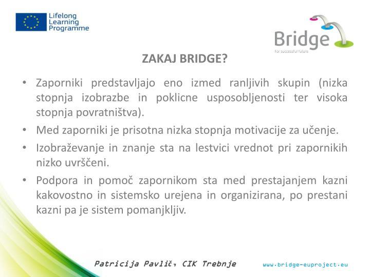 ZAKAJ BRIDGE?