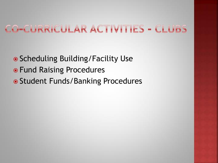 Co-curricular Activities - Clubs