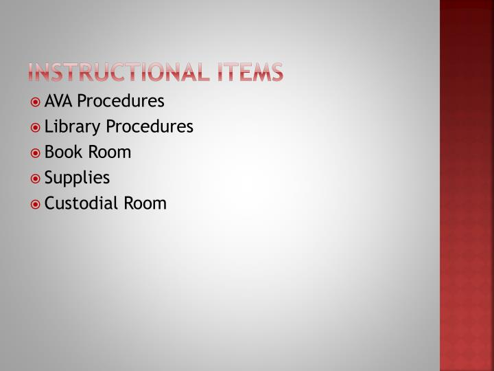 Instructional Items