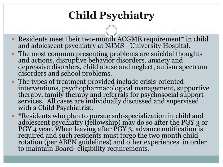 Child Psychiatry
