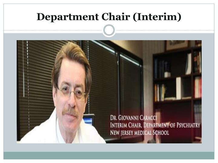 Department Chair (Interim)