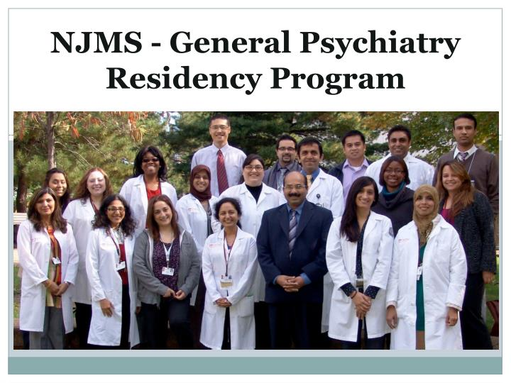 Njms general psychiatry residency program