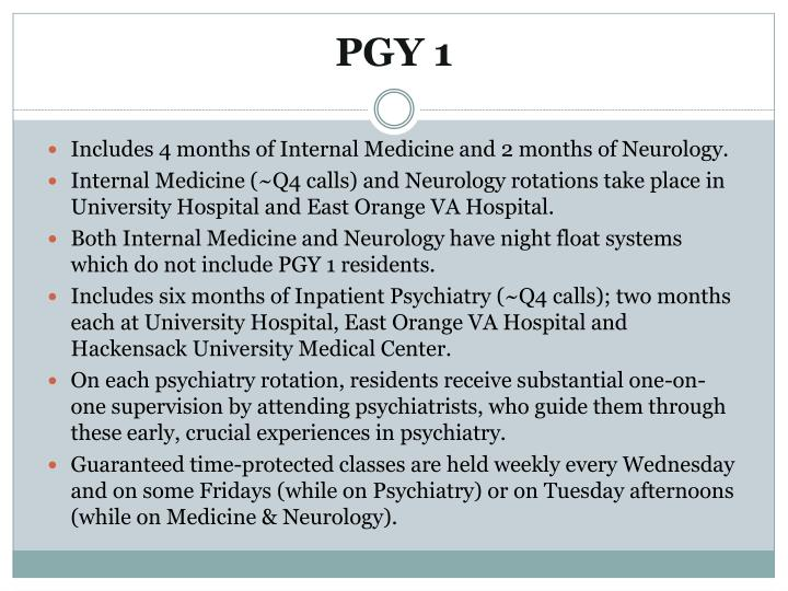 PGY 1