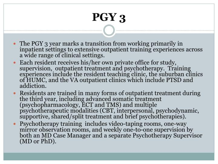 PGY 3