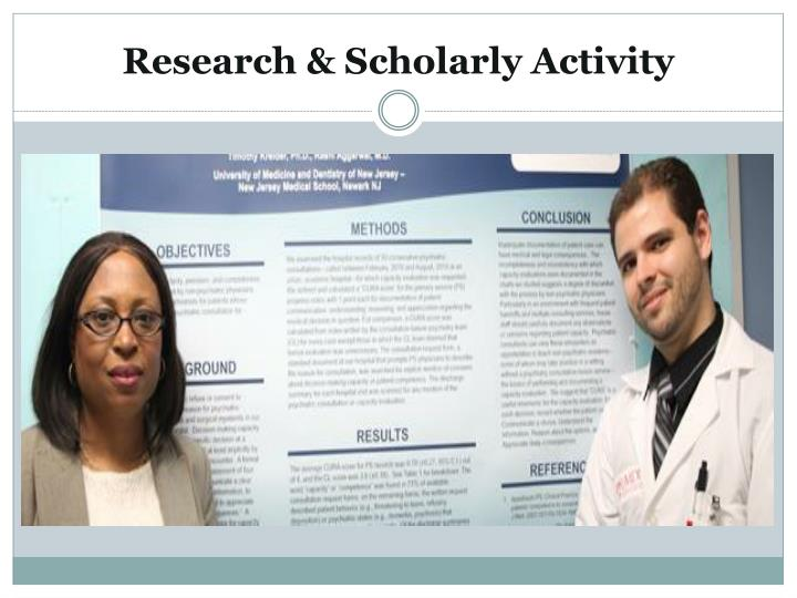Research & Scholarly Activity