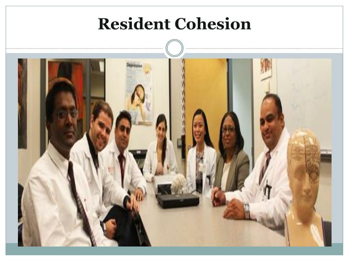 Resident Cohesion
