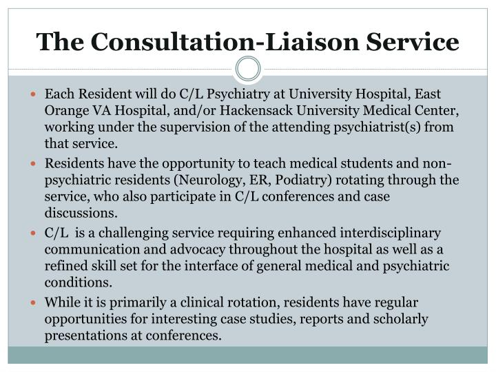 The Consultation-Liaison Service