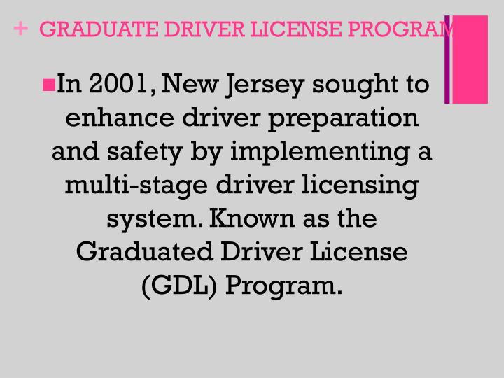 GRADUATE DRIVER LICENSE PROGRAM