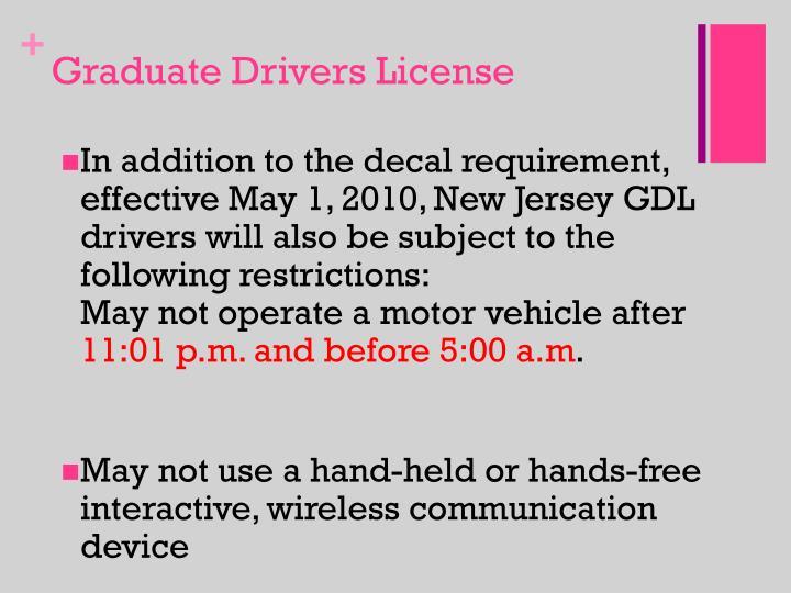 Graduate Drivers License