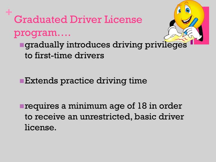 Graduated Driver License program….