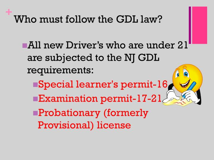 Who must follow the GDL law?