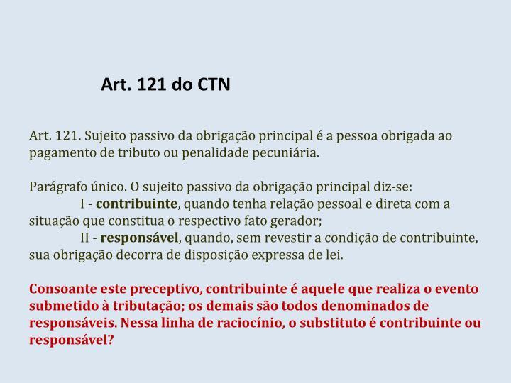 Art. 121 do CTN