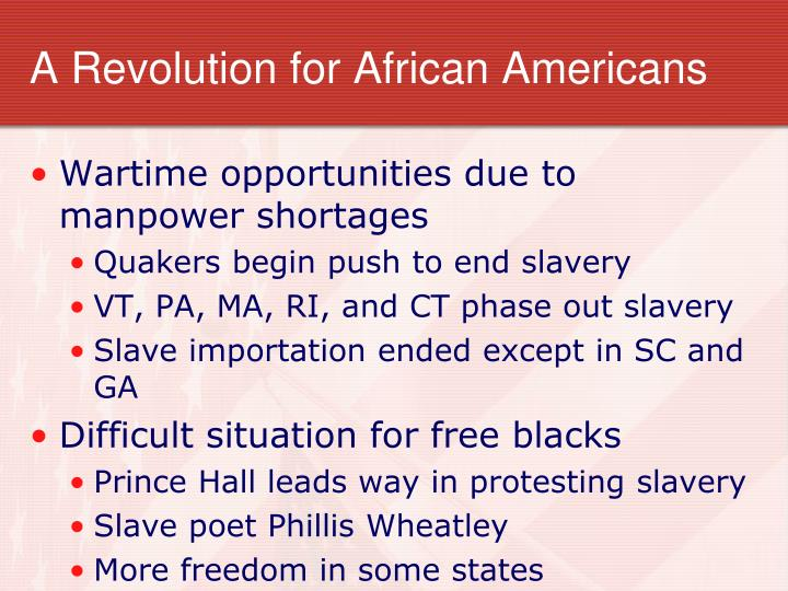 A Revolution for African Americans