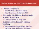 native americans and the confederation