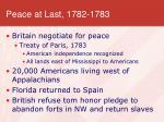 peace at last 1782 1783